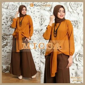 Setelan Hijab Modis Baju dan Celana Kulot Modern Model Terbaru
