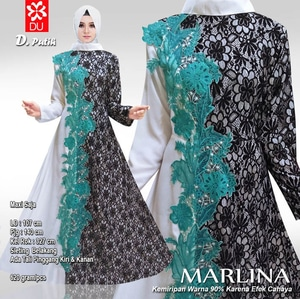Baju Gamis Unik Long Dress Muslim Modern Bahan Brukat Bordir