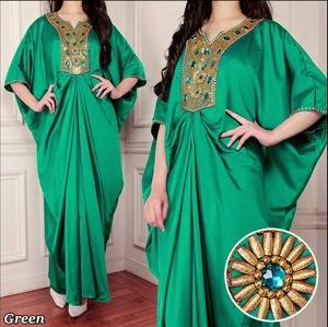 Baju Gaun Kaftan Manik-manik Cantik Desain Model Terbaru