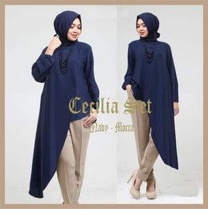 Baju Muslim Setelan Hijab Celana Modis 3 in 1 Model Terbaru