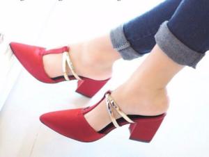 Sepatu Sandal High Heels Pantofel Hak Tahu Model Terbaru