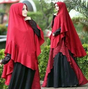 Setelan Busana Muslim Gamis Syari Polos Modern Model Terbaru