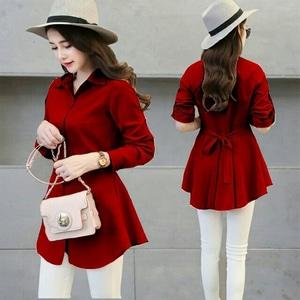Baju Atasan Wanita Lengan Panjang Polos Modis Modern