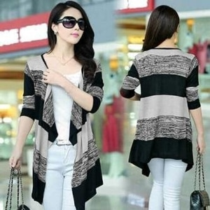 Baju Basic Style Cardigan Fashion Warna Kombinasi Model Terbaru