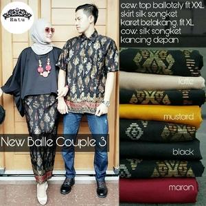 Baju Couple Setelan Rok Atasan Model Kalong Modern Masa Kini
