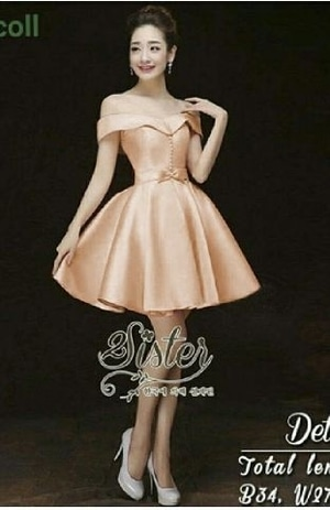 Baju Dress Pesta Pendek Wanita Dewasa Cantik Model Terbaru