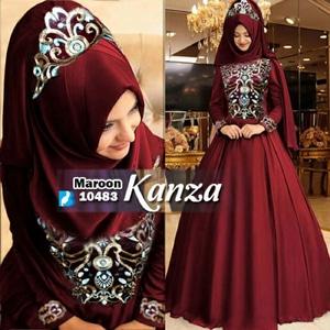 Baju Gamis Bordir Setelan Hijab Wanita Dewasa Model Terbaru