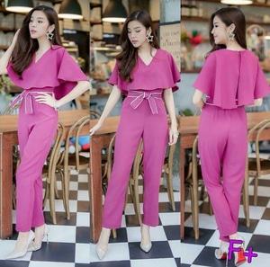 Baju Jumpsuit Cape Wanita Cantik Ala Korea Model Terbaru
