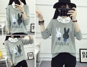Baju Kaos Wanita Desain Cantik Lucu Lengan Panjang Modern