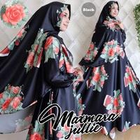 Baju Setelan Gamis Syari Motif Bunga Modern Model Terbaru