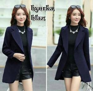 Jaket Blazer Style Casual Fashion Wanita Modern Model Terbaru