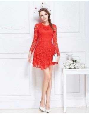 Model Baju Mini Dress Party Brukat Lengan Panjang Cantik Modern