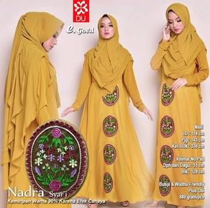 Model Baju Muslim Gamis Syari Modern Terbaru Aplikasi Bordir