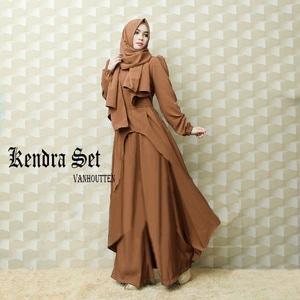 Pakaian Setelan Hijab Modis Baju dan Celana Kulot Model Terbaru