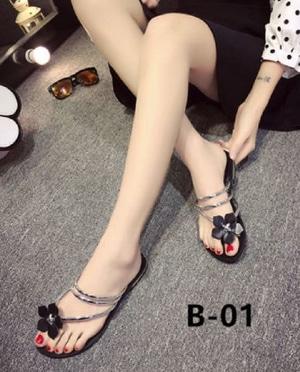Sandal Teplek Wanita Flat Bunga Modern Model Terbaru