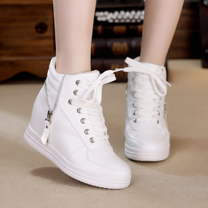 Sepatu Boots Tali Wanita Warna Putih Murah Model Terbaru