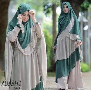 Setelan Baju Gamis Syari Jilbab Khimar Modern Model Terbaru