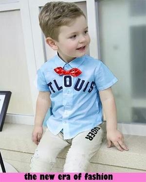 Setelan Baju Lengan Pendek dan Celana Anak Laki-laki Murah