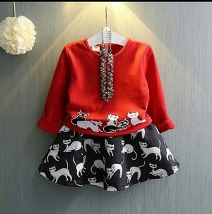 Setelan Baju dan Rok Mini Pendek Anak Perempuan Model Terbaru