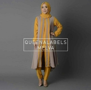 Setelan Hijab Baju Muslim Tunik Celana Modis Modern Model Terbaru
