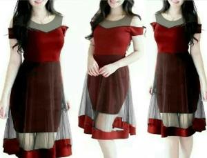 Baju Dress Pendek Bahan Tile Modis Cantik Model Terbaru