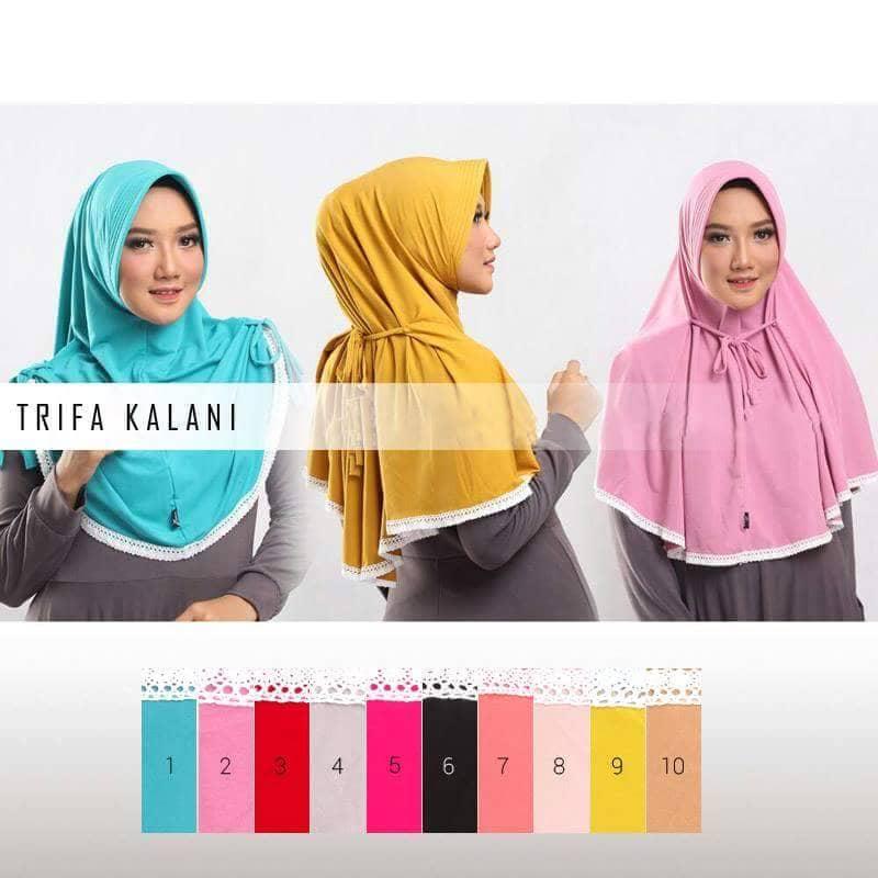 Jilbab Instan Pad Trifa Kalani Modern Murah Model Terbaru