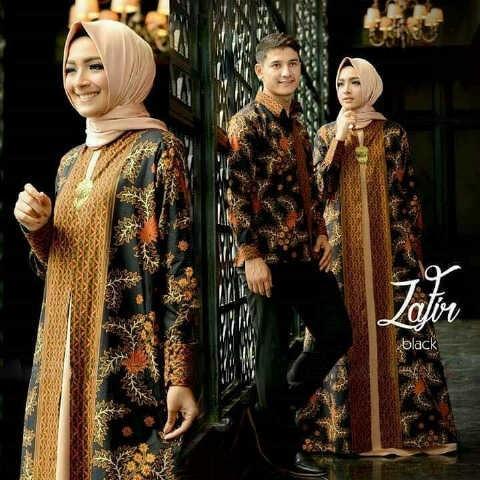 Baju Couple Gamis & Kemeja Batik Panjang Model Terbaru