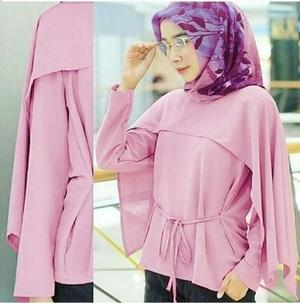 Baju Atasan Muslim Wanita Model Cape Lengan Panjang Modern Terbaru