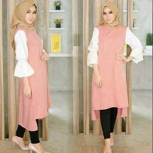 Baju Blouse Atasan Muslimah Wanita Lengan Panjang Tunik Model Terbaru