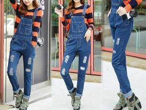 Baju Jumpsuit Celana Kodok Panjang Wanita Bahan Jeans Model Terbaru