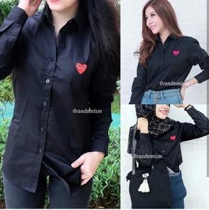 Baju Kemeja Kerja Wanita Bahan Katun Lengan Panjang Model Terbaru