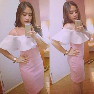 Baju Mini Dress Party Pendek Wanita Model Sabrina Cantik Terbaru