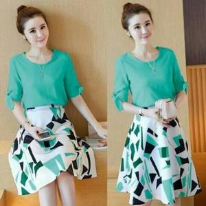 Baju Mini Dress Pendek Wanita Motif Cantik Modern Model Terbaru