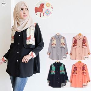 Model Baju Atasan Muslim Wanita Tunik Lengan Panjang Terbaru