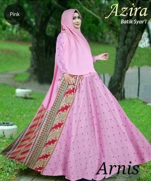 Model Baju Gamis Syari Setelan Hijab Muslim Wanita Bahan Katun Terbaru