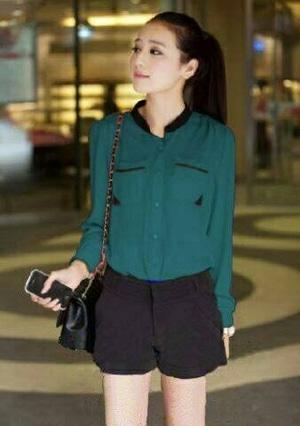 Model Baju Hem Kemeja Kerja Wanita Lengan Panjang Modern Terbaru