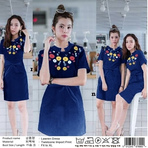 Model Baju Mini Dress Pendek Fashion Wanita Motif Cantik Terbaru