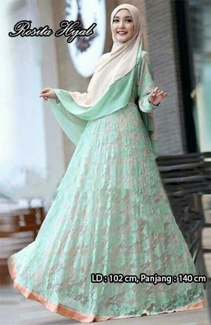 Model Baju Muslim Gamis Syari Brukat Modern Terbaru dan Murah