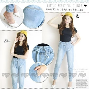 Model Celana Panjang Jogger Wanita Bahan Jeans Wash Modern Terbaru