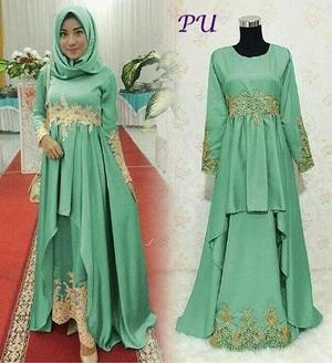 Setelan Hijab Baju Gamis Muslimah Pesta Wanita Model Terbaru Modern