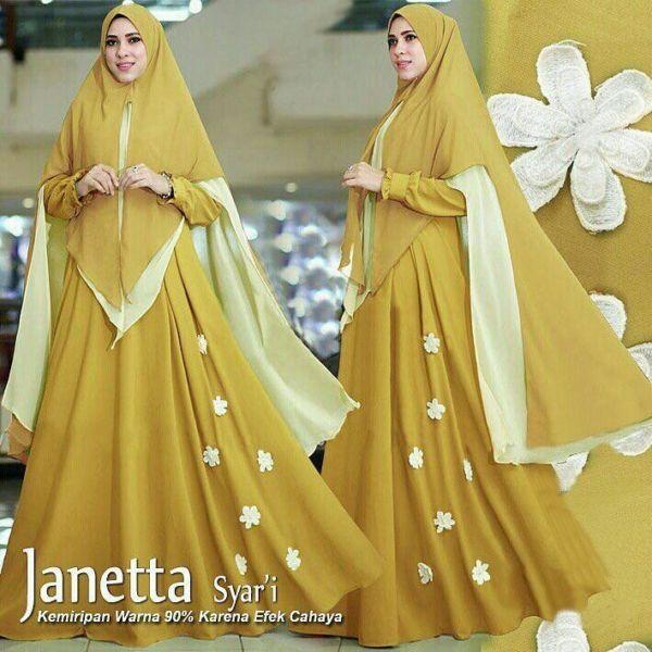Model Baju Gamis Syari Setelan Hijab Pakaian Muslimah Wanita Modern Terbaru