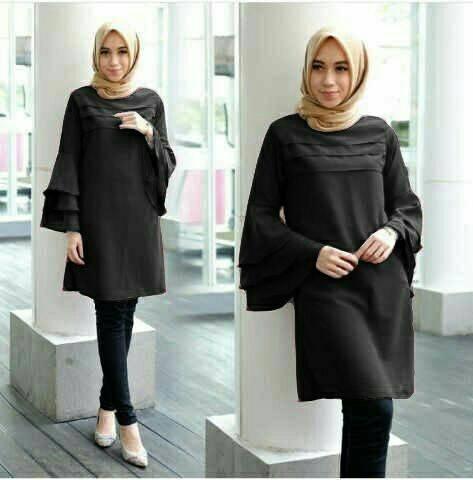 Model Baju Atasan Muslim Wanita Tunik Cantik Lengan Panjang Terbaru