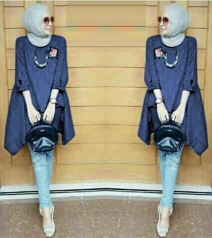Model Baju Atasan Muslim Wanita Blouse Hijab Tunik Bordir Cantik Terbaru