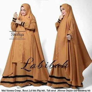 Baju Gamis Syari Busui Setelan Jilbab Bergo Modis Modern Model Terbaru