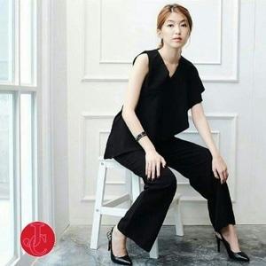 Baju Jumpsuit Panjang Wanita Cantik Ala Korea Modern Murah Model Terbaru