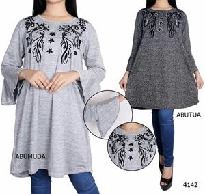 Baju Kaos Oblong Wanita Lengan Panjang Model Terbaru Ukuran Jumbo