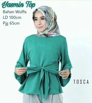 Model Baju Atasan Wanita Blouse Hijab Lengan Panjang Modis dan Terbaru