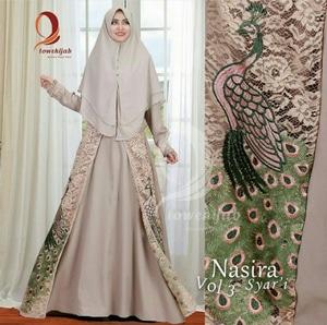 Model Baju Gamis Syari Setelan Hijab Brukat Bordir Modis Modern Terbaru
