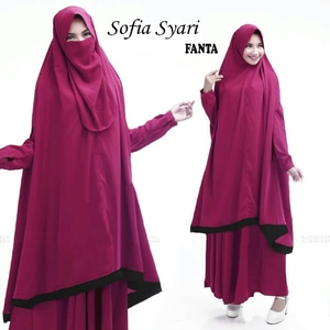Model Pakaian Muslimah Baju Gamis Syari Cadar Setelan Hijab Modern Terbaru