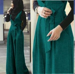 Setelan Baju Jumpsuit Hijab 3 in 1 Modis Modern Desain Cantik Model Terbaru